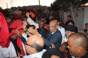 Sáhara Occidental: Miles de saharauis en El Aaiún para exigir la salida de la MINURSO